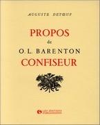 Propos d'O.L. Barenton, confiseur