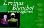 Colloque Lévinas - Blanchot