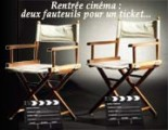Rentrée cinéma : deux fauteuils pour un ticket