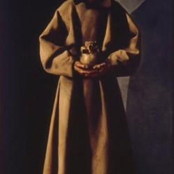 F. de Zurbarán, Saint F. d'Assise dans sa tombe