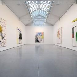 Georg Baselitz, vue de l'exposition Remix, 2008