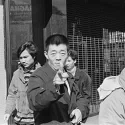 Gu Changwei, Nouvel An chinois sur Mott Street 1989. Série Photographies new-yorkaises, 1983-1993