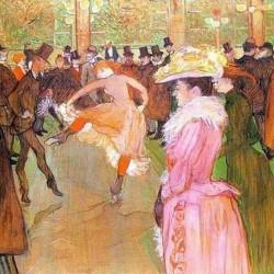 'La danse au Moulin Rouge'  de Henri de Toulouse Lautrec