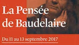 Colloque : « La Pensée de Baudelaire »