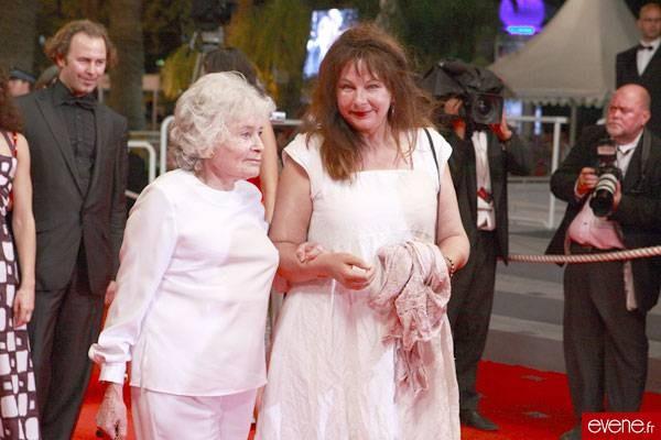 Claude Sarraute et Yolande Moreau, Cannes 2007