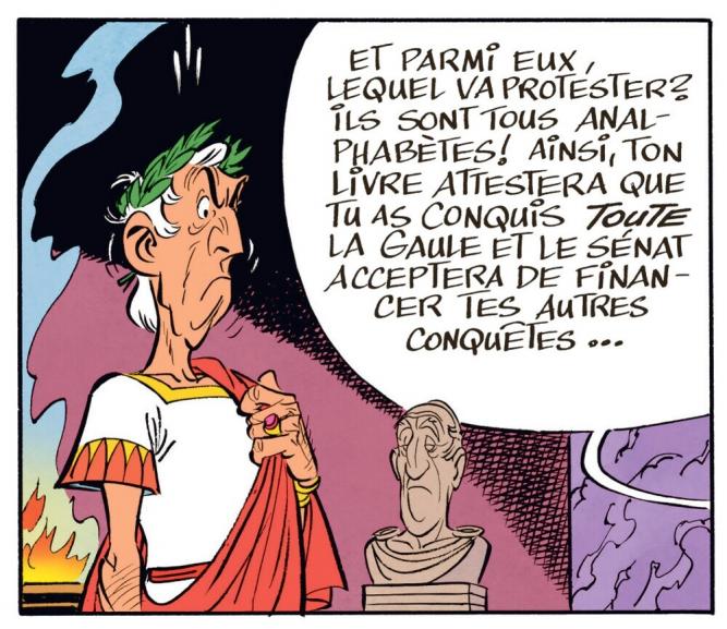Case inédite du 36e album des aventures de l'irréductible Gaulois. « Le Papyrus de César » - Sortie le 22 octobre 2015