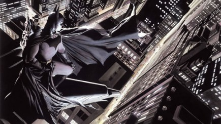 «Batman: Knight over Gotham» par Alex Ross. Exposition à voir au Mona Bismarck jusqu'au 15 juin 2014. - Super-Héros : L'Art d'Alex Ross